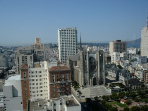 Grace Cathedral from Top of the Mark