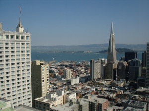 SoMa and Alcatraz from Top of the Mark