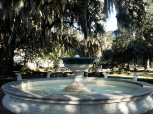 Orleans Square fountain